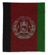 Flag Of Afghanistan Fleece Blanket
