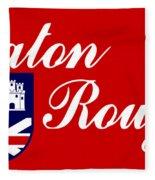 Flag Of Baton Rouge Fleece Blanket