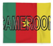 Flag Of Cameroon Word. Fleece Blanket
