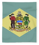 Flag Of Delaware Fleece Blanket