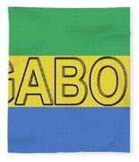 Flag Of Gabon Word. Fleece Blanket