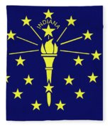 Flag Of Indiana Fleece Blanket