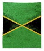 Flag Of Jamaica Grunge Fleece Blanket