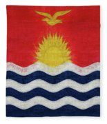 Flag Of Kiribati Texture Fleece Blanket