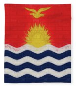 Flag Of Kiribati Wall Fleece Blanket