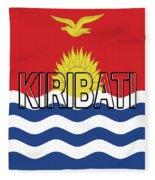 Flag Of Kiribati Word Fleece Blanket