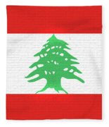 Flag Of Lebanon Wall Fleece Blanket