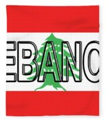 Flag Of Lebanon Word Fleece Blanket