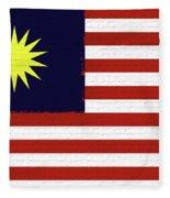 Flag Of Malaysia Wall. Fleece Blanket