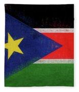 Flag Of  South Sudan Grunge Fleece Blanket