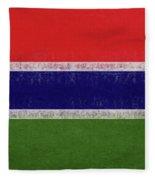 Flag Of The Gambia Grunge. Fleece Blanket