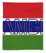 Flag Of The Gambia Word. Fleece Blanket