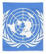 Flag Of The United Nations Fleece Blanket