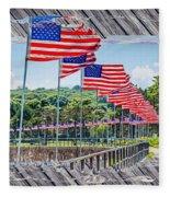 Flag Walk 2 Fleece Blanket