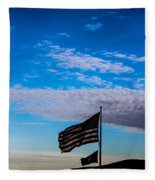 Flag With The Clouds Fleece Blanket