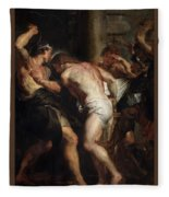 Flagellation Of Christ 2 Peter Paul Rubens Fleece Blanket