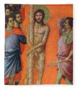 Flagellation Of Christ Fragment 1311 Fleece Blanket