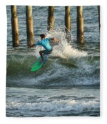 Flagler Beach Surf Day Fleece Blanket