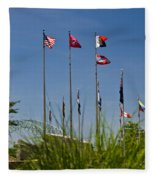 Flags Flags Flags Fleece Blanket