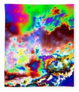 Flamboyant Cloudscape Fleece Blanket