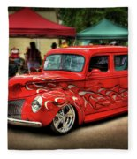 Flame Hot Truck Fleece Blanket