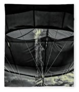 Flame On Hot Air Balloon Fleece Blanket