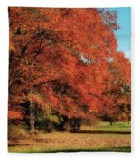 Flame Trees Fleece Blanket