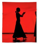 Flamenco Red An Black Spanish Passion For Dance And Rithm Fleece Blanket