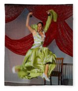 Flamenco Show Nr 2 Fleece Blanket