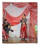 Flamenco Show Nr 4 Fleece Blanket