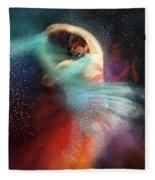 Flamencoscape 02 Fleece Blanket