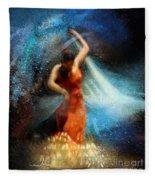 Flamencoscape 05 Fleece Blanket
