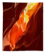 Flames Under Arizona  Fleece Blanket