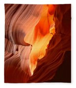 Flames Under The Arizona Desert Fleece Blanket