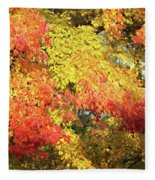 Flaming Autumn Leaves Art Fleece Blanket