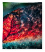 Flaming Fall Color Fleece Blanket