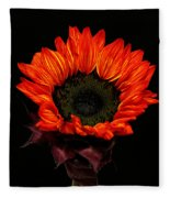 Flaming Flower Fleece Blanket