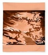 Flaming Horse   -023 Fleece Blanket