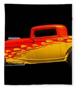Flaming Hot Rod Fleece Blanket