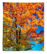 Flaming Maple - Paint Fleece Blanket