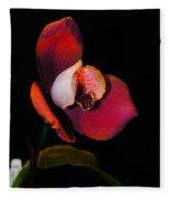 Flaming Orchid Fleece Blanket