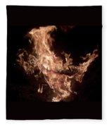 Flaming Pegasus Fleece Blanket