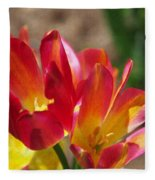 Flaming Tulips Fleece Blanket