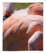 Flamingo 2 Fleece Blanket