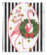 Flamingo Amore 2 Fleece Blanket