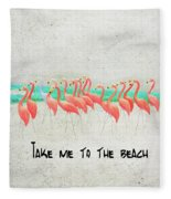 Flamingo Art II Fleece Blanket