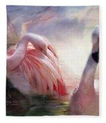 Flamingo Dawn Fleece Blanket