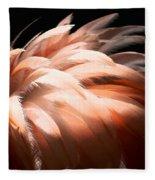 Flamingo Feathers Fleece Blanket