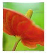 Flamingo Flower 2 Fleece Blanket