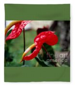 Flamingo Flower Fleece Blanket